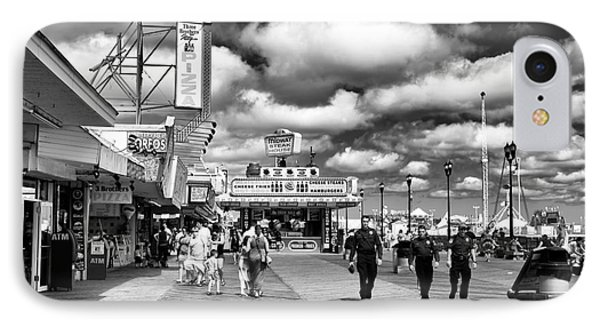 Boardwalk Beat Mono IPhone Case by John Rizzuto