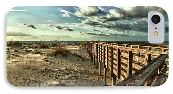 Boardwalk On The Beach IPhone Case by Michael Thomas