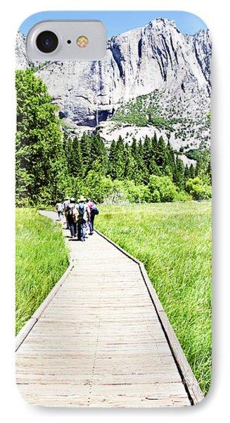 Boardwalk On Yosemite Meadow IPhone Case