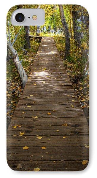 Boardwalk Over Convict Creek IPhone Case by Ralph Vazquez