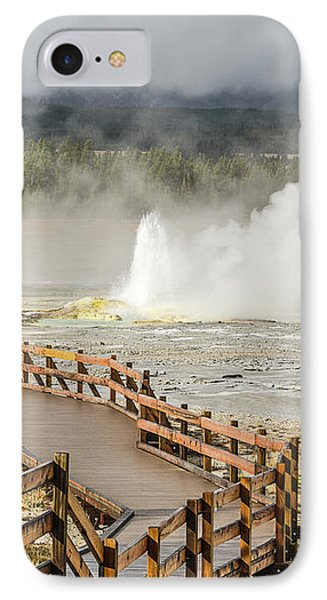 IPhone Case featuring the photograph Boardwalk Overlooking Spasm Geyser by Sue Smith