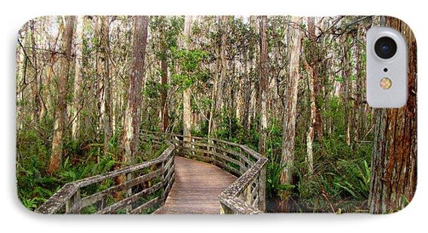 IPhone Case featuring the photograph Boardwalk Through Corkscrew Swamp by Barbara Bowen
