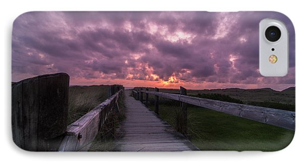 Boardwalk To Pacific Ocean IPhone Case by Michael J Bauer