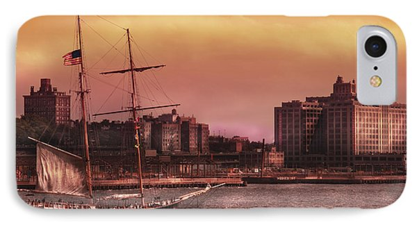 Boat - Ny - The Clipper  Phone Case by Mike Savad