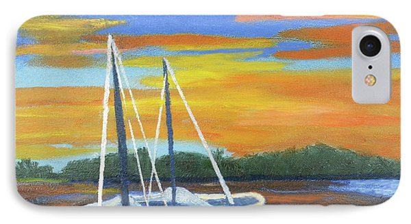Boat Adrift IPhone Case by Margaret Harmon