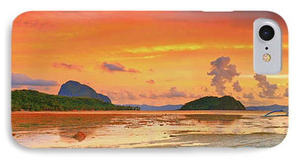 Boat At Sunset Phone Case by MotHaiBaPhoto Prints
