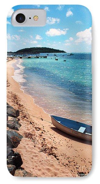 Boat Beach Vieques Phone Case by Thomas R Fletcher