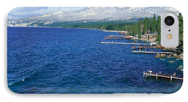 Boat Docks In Wintertime, Lake Tahoe IPhone Case