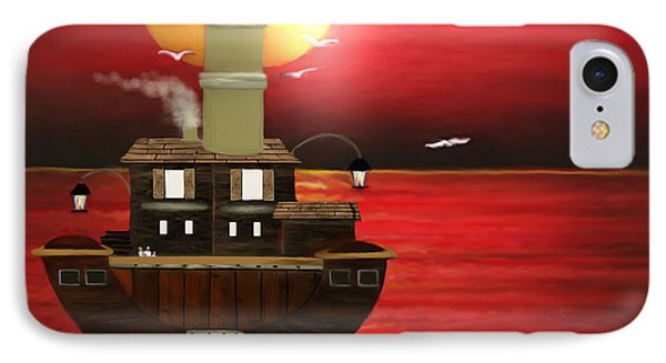 Boat House IPhone Case by Belinda Threeths