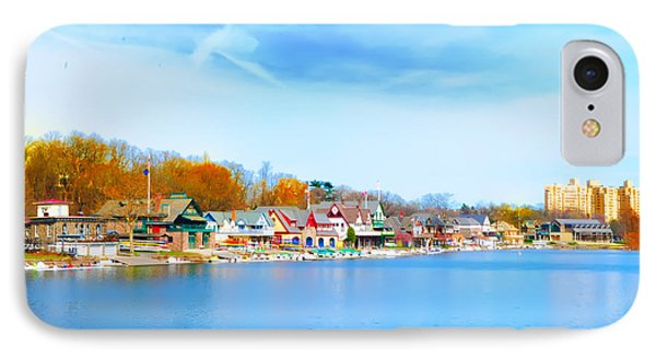 Boat House Row From West River Drive IPhone Case by Bill Cannon