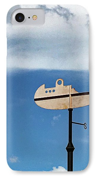 Boat In The Clouds IPhone Case by Sandy Taylor