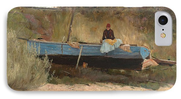 Boat On Beach, Queenscliff IPhone Case by Tom Roberts