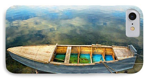 Boat On Lake Phone Case by Silvia Ganora