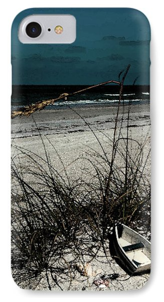 Boat On The Beach IPhone Case by Randy Sylvia