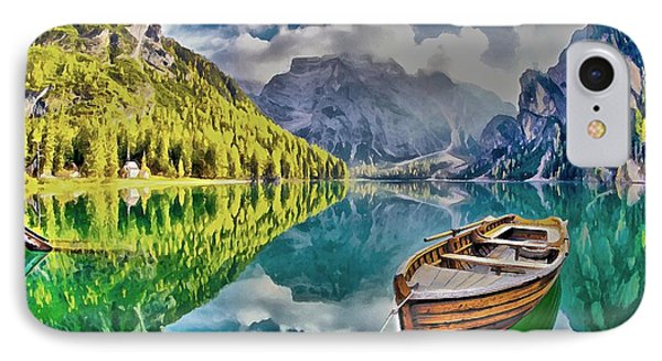 Boat On The Lake IPhone Case by Maciek Froncisz