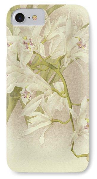 Boat Orchid  Cymbidium IPhone Case by English School
