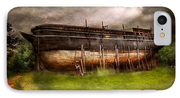 Boat - The Construction Of Noah's Ark Phone Case by Mike Savad
