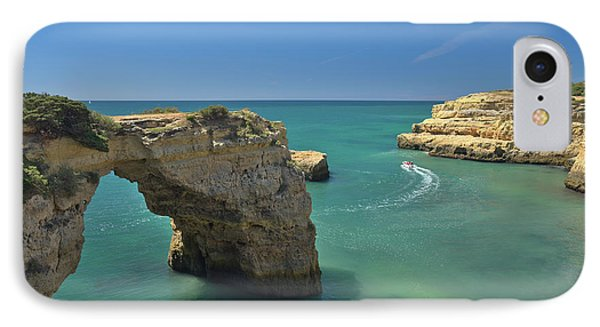 Boat Tour By The Cliffs In Lagoa IPhone Case by Angelo DeVal