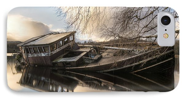 Boat Wreck On Loch Ness IPhone Case