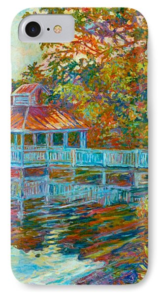 Boathouse At Mountain Lake Phone Case by Kendall Kessler