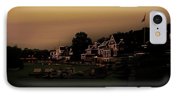 IPhone Case featuring the photograph Boathouse Row From The Lagoon Before Dawn by Bill Cannon