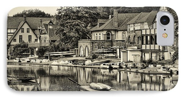 Boathouse Row In Sepia Phone Case by Bill Cannon