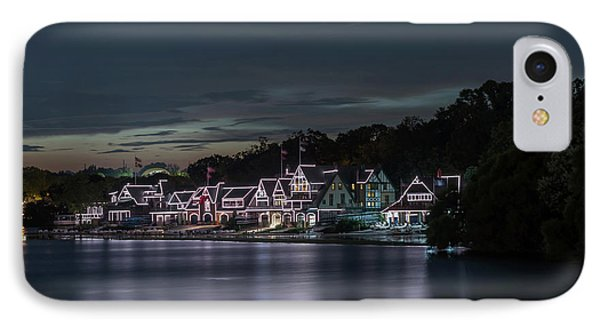 Boathouse Row Philadelphia Pa At Night  IPhone Case by Terry DeLuco
