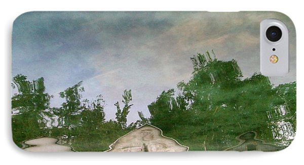 Boathouses With Sky And Trees Phone Case by Michelle Calkins