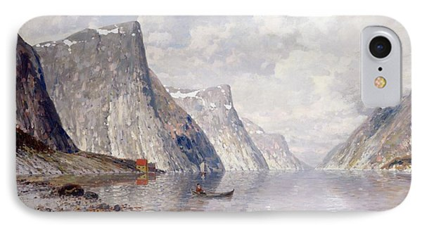 Boating On A Norwegian Fjord IPhone Case