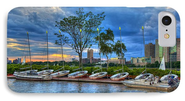 Boating On The Charles River - Boston IPhone Case by Joann Vitali