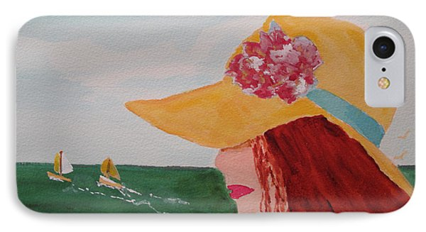 IPhone Case featuring the painting Boating by Sandy McIntire