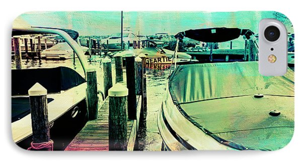 Boats And Dock IPhone Case by Susan Stone