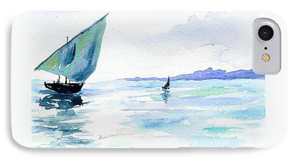 Boats IPhone Case by Anne Marie Brown