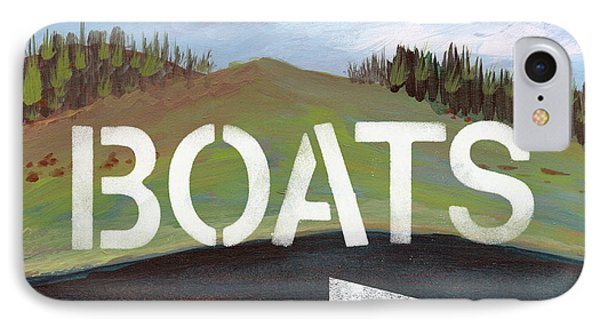 Boats- Art By Linda Woods IPhone Case by Linda Woods