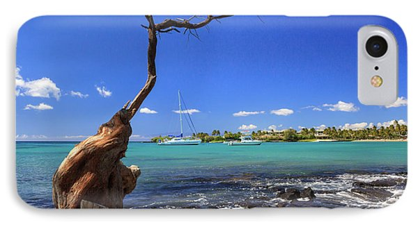 Boats At Anaehoomalu Bay Phone Case by James Eddy
