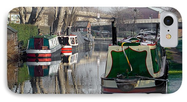 Boats At Horninglow Basin Phone Case by Rod Johnson