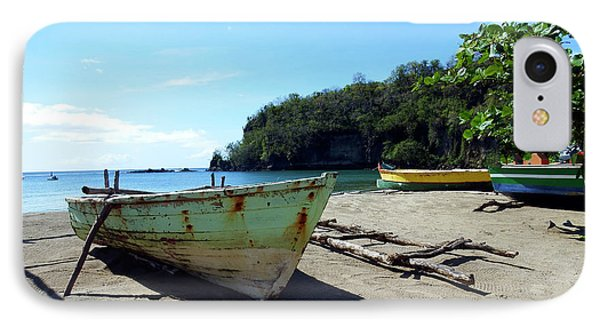 IPhone Case featuring the photograph Boats At La Soufriere, St. Lucia by Kurt Van Wagner