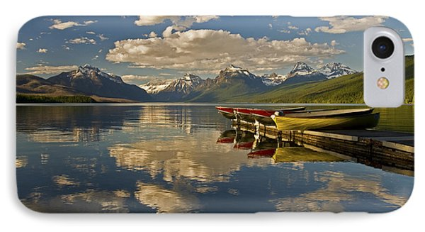 Boats At Lake Mcdonald IPhone 7 Case