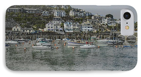 IPhone Case featuring the photograph Boats At Looe by Brian Roscorla