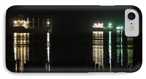 Boats At Night IPhone Case by Angi Parks