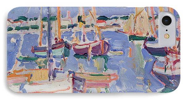 Boats At Royan IPhone Case by Samuel John Peploe