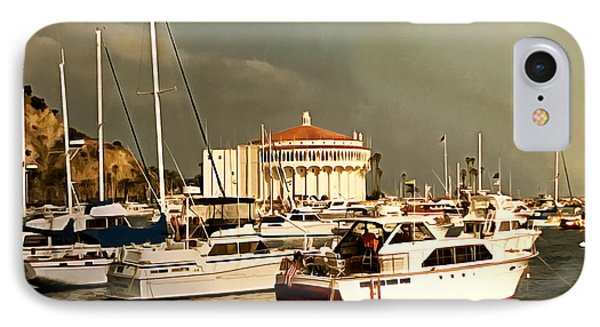 IPhone Case featuring the photograph Boats Catalina Island California by Floyd Snyder