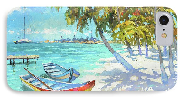 IPhone Case featuring the painting Boats  by Dmitry Spiros