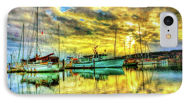 Boats In For The Evening IPhone Case by Garland Johnson