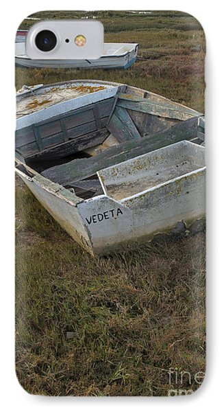 Boats In Ria Formosa IPhone Case by Angelo DeVal