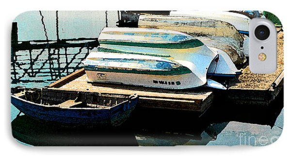 IPhone Case featuring the photograph Boats In Waiting by Larry Keahey