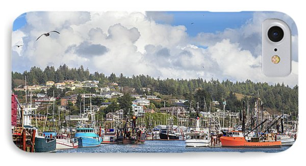 Boats In Yaquina Bay IPhone Case by James Eddy