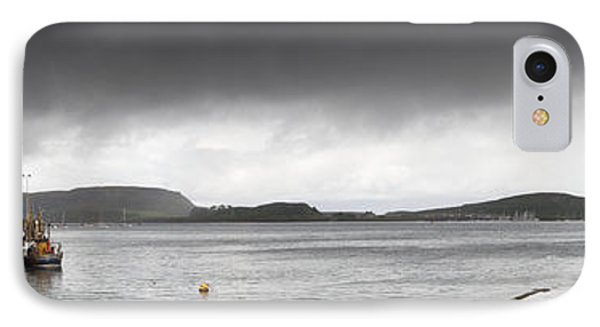 Boats Moored In The Harbor Oban Phone Case by John Short