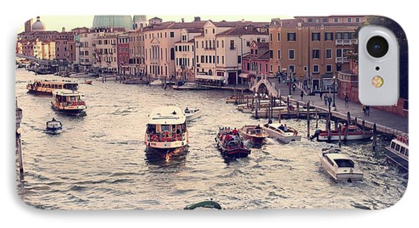 IPhone Case featuring the photograph Boats Of Venice by Brad Scott