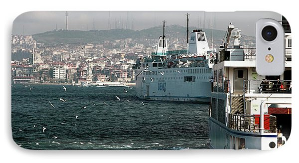 Boats On The Bosphorus Phone Case by John Rizzuto